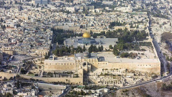 2017 ISR 2013 Aerial Jerusalem Temple Mount 01